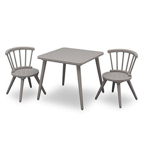 Delta Children Windsor Table & 2 Chair Set, Grey by Delta Children