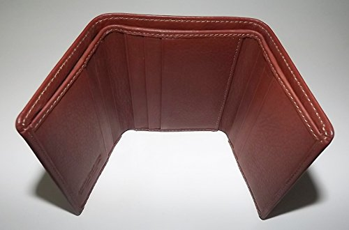 Wallet Card Brown Giudi Pebbled Men's Credit Leather Tuscan Italia Trifold 1BSx48