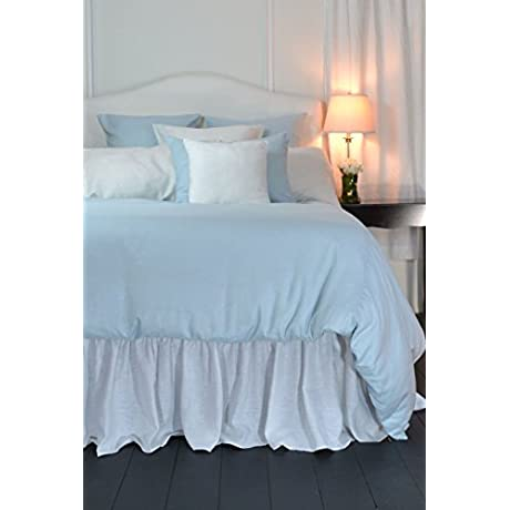Lino Light Blue Super King Duvet Cover 116 X 100 100 Pure Linen