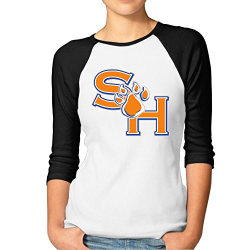 Funny Mormon Costumes (BMW47' Women's Sam Houston State University 3/4 Sleeve Raglan Tee T Shirt - X-Large)