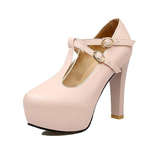 Flats Tacco Donna Ballet Alto VogueZone009 Rosa Fibbia Trafilatura nqZwYn75