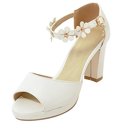Coolcept Mujer Tacon Ancho Sandalias White