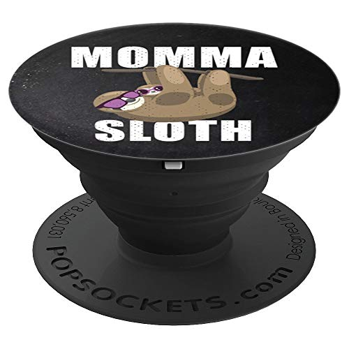 Momma Sloth With Baby And Sunglasses For Women - PopSockets Grip and Stand for Phones and ()
