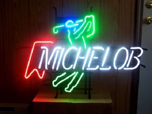 Desung New 17''x13'' M ichelob U ltra Play Golf Neon Sign (Multiple Sizes Available) Man Cave Signs Sports Bar Pub Beer Neon Lights Lamp Glass Neon Light CX155