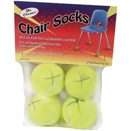 THE PENCIL GRIP CHAIR SOCKS 4 CT. POLYBAG by The Pencil Grip