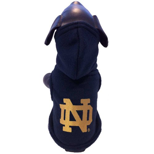 Fleece Notre Dame Irish Jacket - All Star Dogs NCAA Notre Dame Fighting Irish Polar Fleece Hooded Dog Sweatshirt, Medium