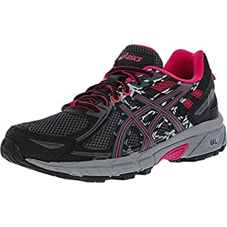 ASICS Women's Gel-Venture 6 Running Shoes, 9.5M, Black/Pixel Pink