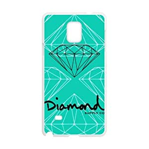 Diamond Supply Co Design Hard Protective Plastic Back Black and White Case Cover for Samsung Galaxy Note 4(1)