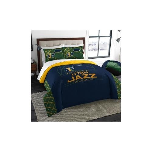 Jazz Beds - The Northwest Company Officially Licensed NBA Utah Jazz Reverse Slam Full/Queen Comforter and 2 Sham Set