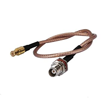 Bingfu RF Pigtail Standard 50 Ohm MCX Plug Male to TNC Jack Female on 15cm(