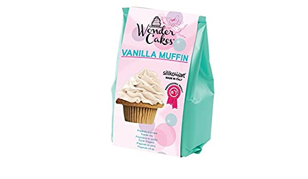 silikomart 99.092.01.0062 - Wonder Vanilla Muffin Preparado en Polvo para Muffin con Sabor a Vainilla 400 gr: Amazon.es: Hogar