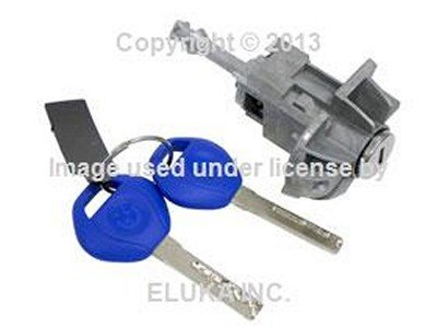 (BMW Genuine Door Control Lock Cylinder with Key Front Left for 320i 323Ci 323i 325Ci 325i 325xi 328Ci 328i 330Ci 330i 330xi M3)