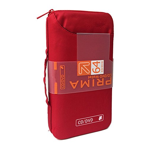 Ksmxos 64 Disc CD/DVD Portable Wallet CD Case Bag Storage Organizer Holder Protective DVD Storage Home Office and Travel - (Travel Cd Holder)