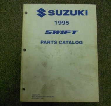 1995 Suzuki Swift Parts Catalog Manual FACTORY OEM NOVEMBER 94 EDITION DEAL
