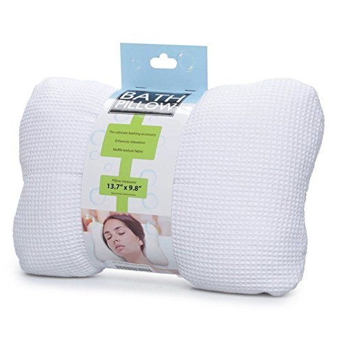 Soft Bath Spa Pillow Comfort Neck & Back Open Air Fiber Pillow air and moisture flows through the OPEN-AIR FIBER Provides Healthy Relaxation in the Bathtub without the Odor of Foam Pillows NA