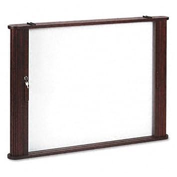 Best Rite Tambour Door Enclosed Cabinet, Mahogany 28060