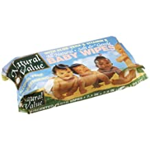 Natural Value B62244 Natural Value Baby Wipe Refill -12x80ct