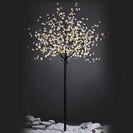 54c2e76fcb13a Árbol de Navidad con Luces led de Interior y Exterior Negro romántico para  decoración navideña de