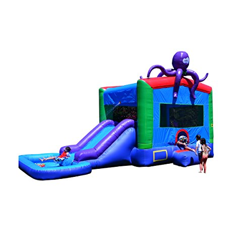 - JumpOrange Commercial Grade Octopus Wet/Dry Inflatable Bouncy House and Slide Combo, 13 x 22'