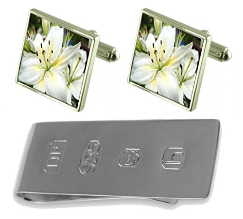Clip Money amp; amp; Cufflinks lilly lilly James Bond James Money Bond Flower Flower Cufflinks qxEAOwB