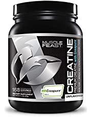 Creapure Creatine Monohydrate Powder - by Muscle Feast | Premium Pre-Workout or Post-Workout | Easy to Mix and Gluten-Free (2lb, Unflavored)