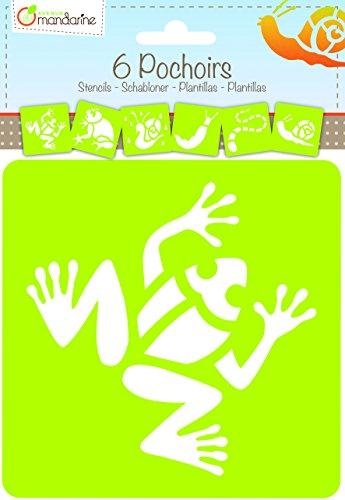 Décopatch - 42444MD - Avenue Mandarine - Set De 6 Pochoirs Enfants - Animaux De La Pluie
