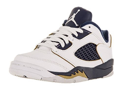 Nike Boy's Jordan 5 Retro Low Basketball Shoe White