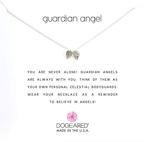 Dogeared Women's Guardian Angel Reminder Necklace Sterling Silver One Size
