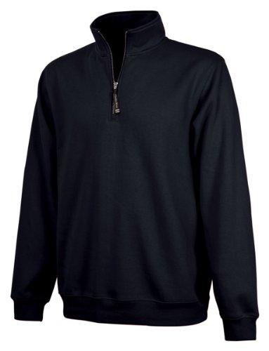 Charles River Apparel Unisex-Adult's Crosswind Quarter Zip Sweatshirt (Regular & Big-Tall Sizes) Black XS