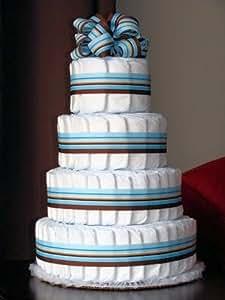 Amazon Com Just Diapers 4 Tier Baby Diaper Cake Baby