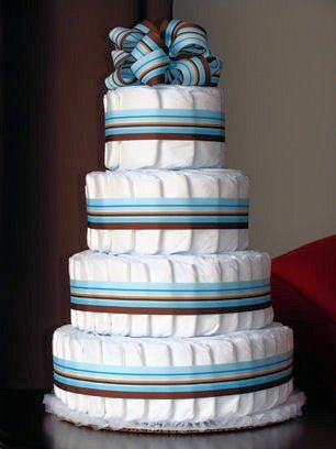 Amazon Just Diapers 4 Tier Baby Diaper Cake Baby Shower Gift