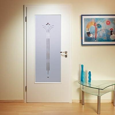 Puerta de cristal interior, puerta interior acristalamiento, LAR918-S, cristal esmerilado, facetas piedras, 660 x 1420 mm, cristal Ornament 4 mm: Amazon.es: Bricolaje y herramientas