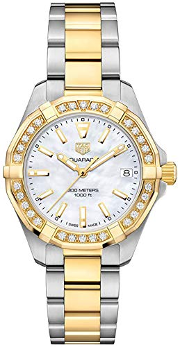 Tag Heuer Aquaracer Mother of Pearl Dial Ladies Diamond Watch WBD1321.BB0320 ()