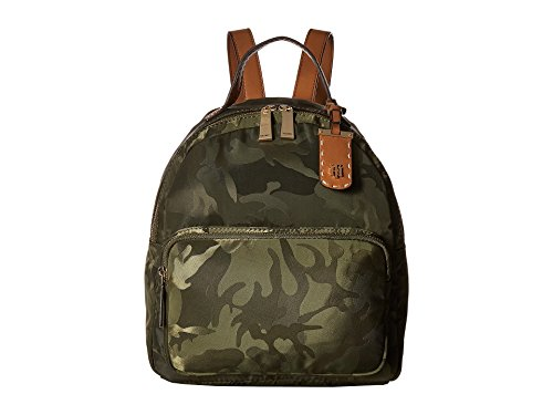 Tommy Hilfiger Women's Julia Camo Nylon Dome Backpack Olive One Size