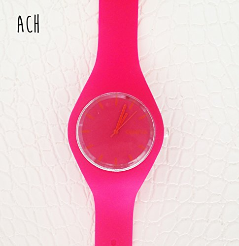 Montre Silicone / Lisse / Rose