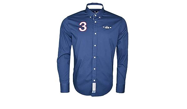 La Martina - Camisa azul marino Polo Team inglés Norgular Fit ...