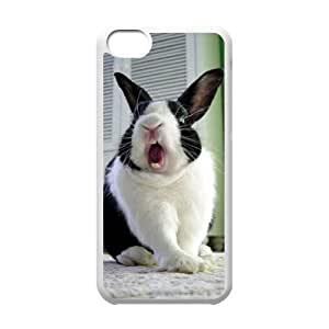 YNACASE(TM) Rabbit DIY Cell Phone Case for iPhone 5C,Personalized Cover Case with Rabbit