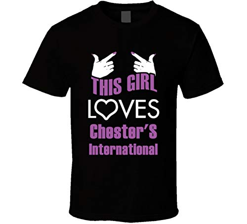 (This Girl Loves Chester and S International Funny Food T Shirt XL Black)