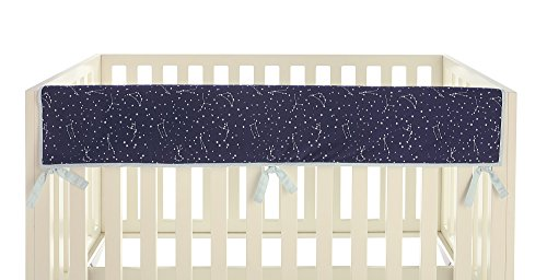 Ivanka Trump Stargazer Collection: Crib Teething Guard Reversible Rail Guard in Blue Star Galaxy Pattern by Ivanka Trump