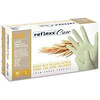 Reflexx L550/L de látex desechables guantes w/harina de avena coloidal (Pack