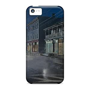 BIYbtPG1812UVBSX Case Cover, Fashionable Iphone 5c Case - Rain In A Lonely Town