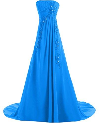 Missdressy - Robe - Trapèze - Femme -  bleu - 34