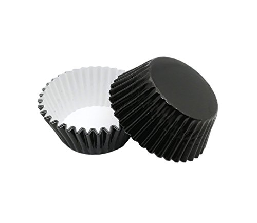 Warm party Foil Baking Cups Cupcake Liners, Standard Sized, 200 Count (Black),