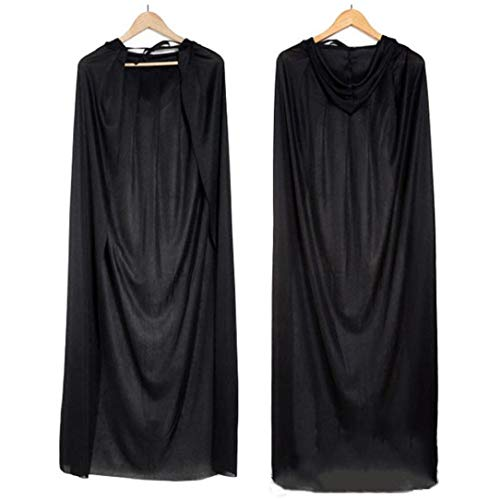 Liraly Womens Coats, Big promotion! New Fashion Adult Turtle Neck Bronzing Cloak Coat Wicca Robe Halloween Party Ghost clothes (US-8 /CN-L,Black) by Liraly (Image #7)