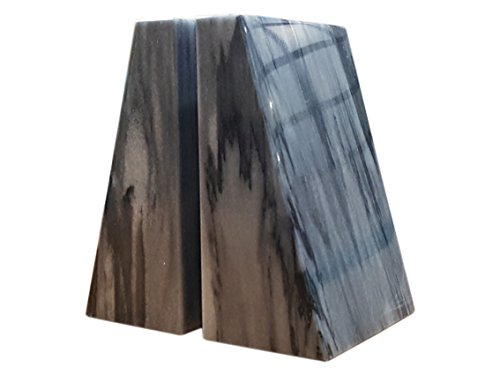 Designs by Marble Crafters Tapered Style Cloud Gray Marble Bookends ()