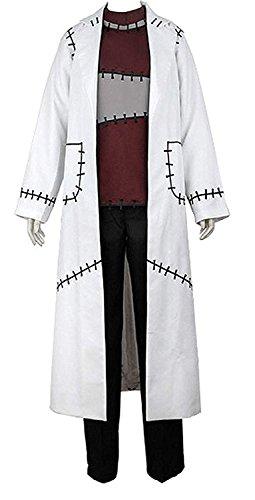 Soul Eater Halloween Costumes (LYLAS Men's Cosplay Costume Doctor Uniform Splicing White Coat)