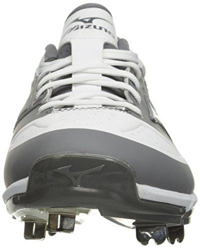 Mizuno Männer dominierender IC Baseball-Schuh Grau weiß