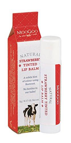 MooGoo Natural Strawberry Tinted Lip Balm 0.17 oz