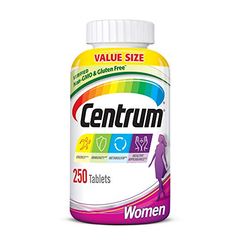 Centrum Multivitamin for Women, Multivitamin/Multimineral Supplement with Iron, Vitamins D3, B and Antioxidants – 250…