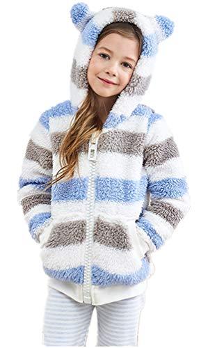 Children Kids Unicorn Cosplay Carnival Unisex Stuffed Plush Zipper Winter Warm Hoodie Outfits Jackets (Bear, 9-10 Years Old)
